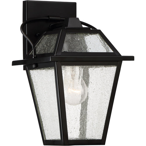 Quoizel BRE8407K Black Ridge 1 Light 12 inch Mystic Black Outdoor Wall Lantern