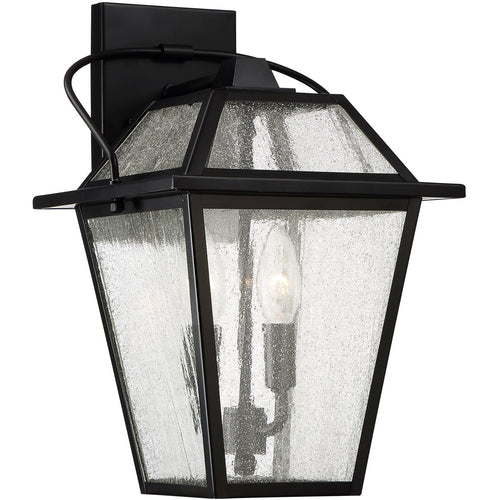 Quoizel BRE8409K Black Ridge 2 Light 15 inch Mystic Black Outdoor Wall Lantern