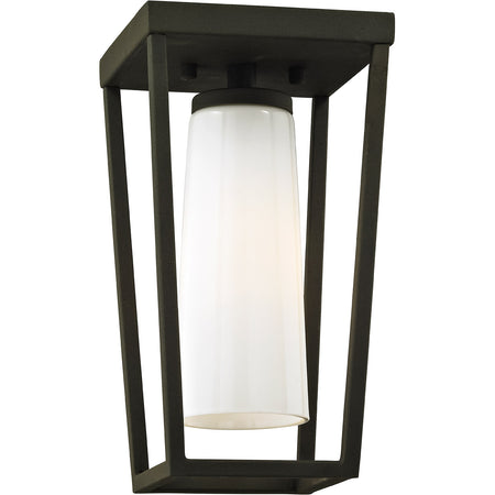 Access Lighting 20084LED-SG/CLR Reveal LED 7 inch Satin Gray Outdoor Semi Flush Mount