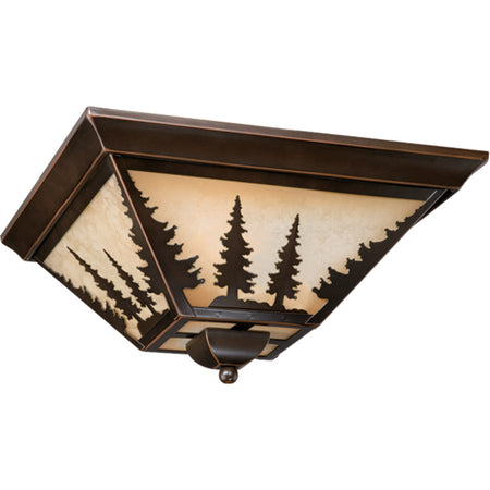 Quoizel Ward 2 Light 12 inch Gilded Bronze Outdoor Flushmount