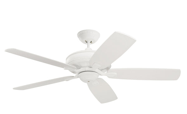 Emerson Fans CF788SW Carrera Grande Eco Satin White Indoor-Outdoor Ceiling Fan Motor Blades Sold Separately