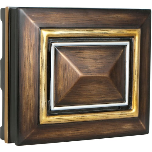 Craftmade Signature Dark Oak with Gold and Silver Chime Rectangle