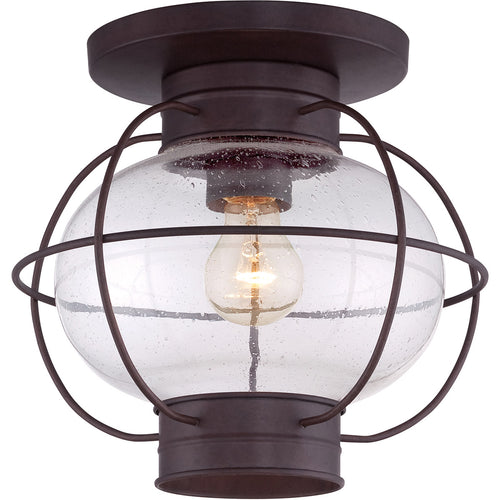 Quoizel Cooper 1 Light 12 inch Copper Bronze Outdoor Flush Mount