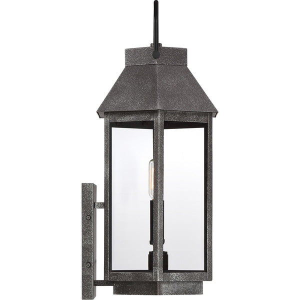 Quoizel Campbell 2 Light 21 inch Speckled Black Outdoor Wall Light