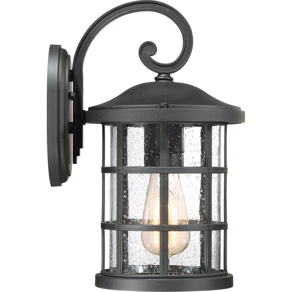 Quoizel Crusade 1 Light 14 inch Earth Black Outdoor Wall Lantern