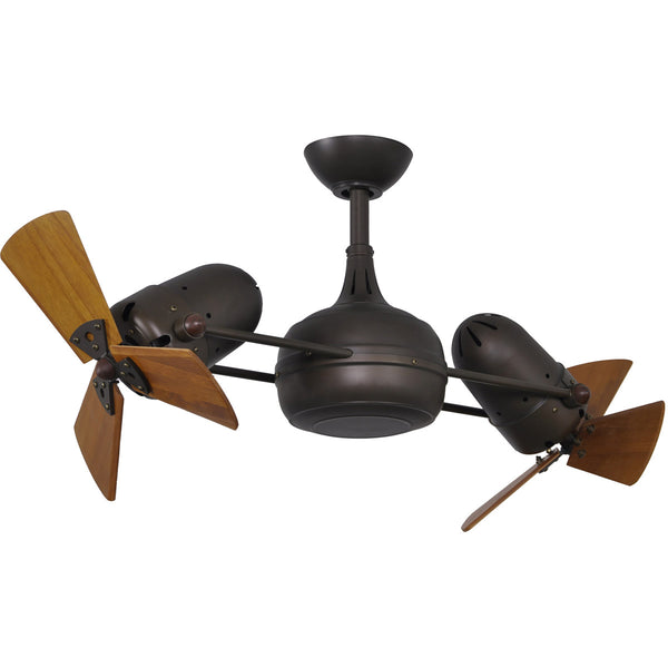 Matthews Fan Company DG-TB-WD Dagny 38 inch Textured Bronze with Mahogany Blades Indoor-Outdoor Ceiling Fan in 41