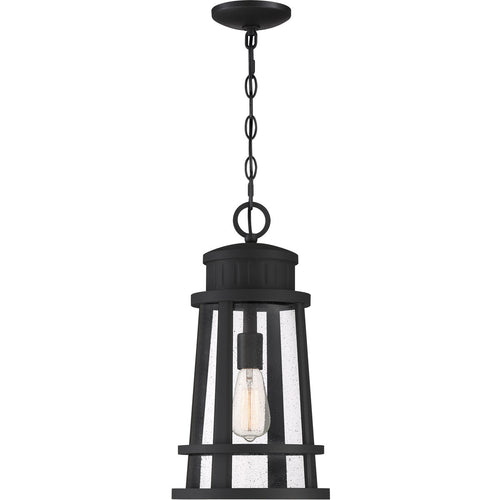 Quoizel Dunham 1 Light 10 inch Earth Black Outdoor Hanging Lantern