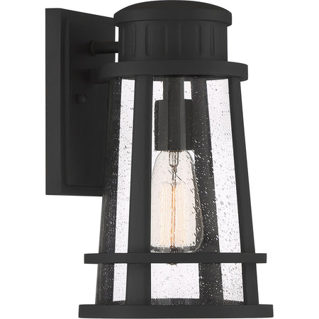 Quoizel Paxton 1 Light 13 inch Matte Black Outdoor Wall Lantern