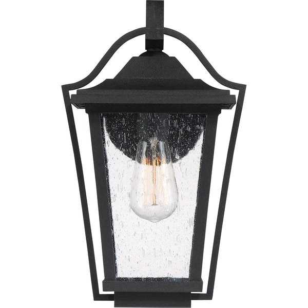 Quoizel Darius 1 Light 15 inch Earth Black Outdoor Wall Light