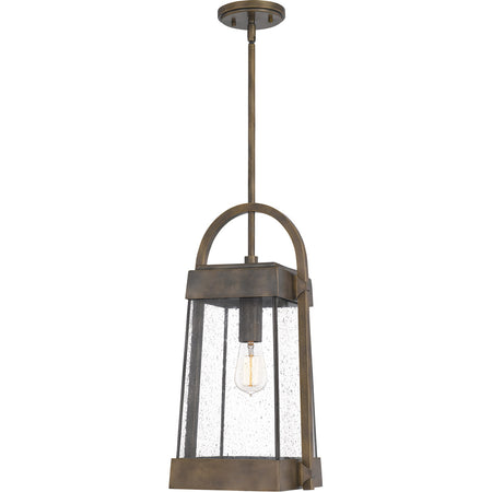 Quoizel Newbury 2 Light 10 inch Aged Copper Outdoor Hanging Lantern