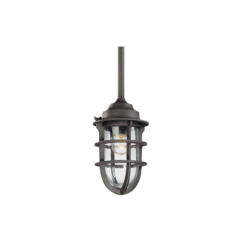Troy-CSL Lighting Wilimington 1 Light 6 inch Nautical Rust Outdoor Pendant