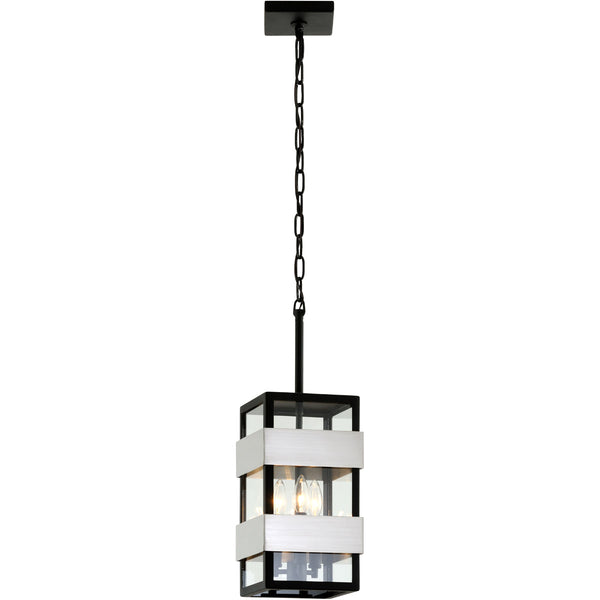 Troy-CSL Lighting F6527 Dana Point 3 Light 8 inch Textured Black with Brushed Stainless Steel Outdoor Pendant