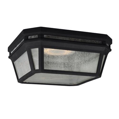 Feiss Londontowne 2 Light 12 inch Black Outdoor Flush Mount in Integrated LED