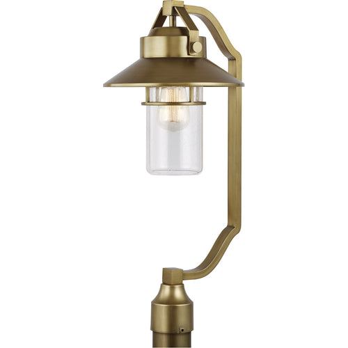 Feiss Boynton 1 Light 25 inch Painted Distressed Brass Outdoor Post Lantern