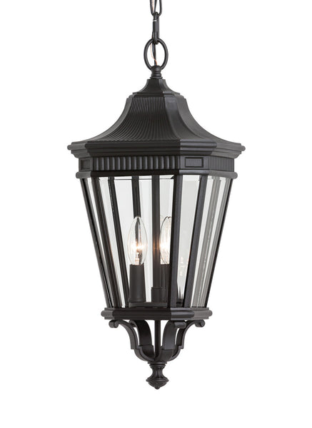 Feiss OL5411BK-LED Cotswold Lane LED 10 inch Black Outdoor Hanging Lantern in Integrated LED
