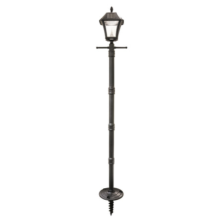 Gama Sonic GS-98B-S-BLK Royal LED 87 inch Black Solar Lamp Post