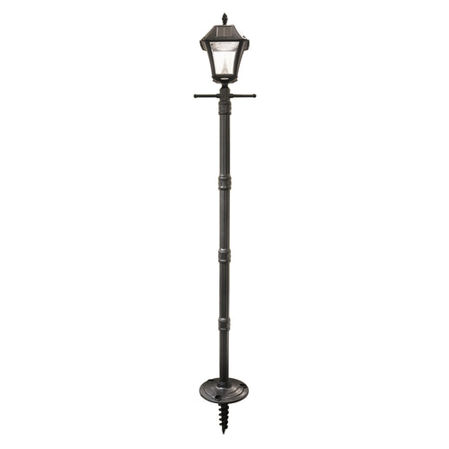 Gama Sonic GS-105S-G Baytown II LED 83 inch Black Solar Lamp Post with EZ-Anchor Base