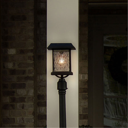 Gama Sonic Imperial 23 inch Black Solar Light with 3 Fitter""