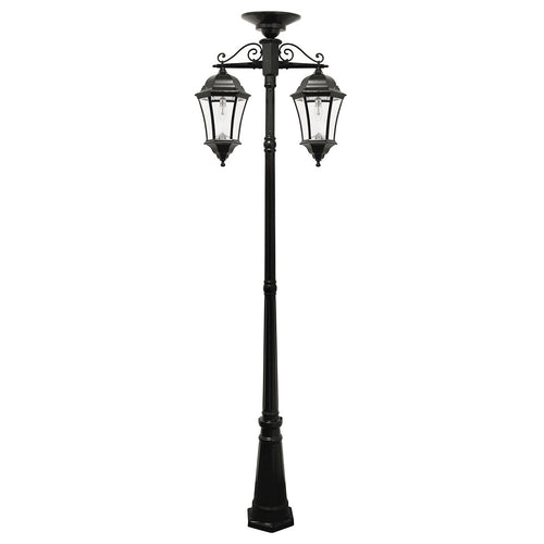 Gama Sonic GS-94BC-D Victorian LED 101 inch Black Solar Lamp Post