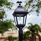 Gama Sonic Imperial 23 inch Black Solar Light with 3 Fitter