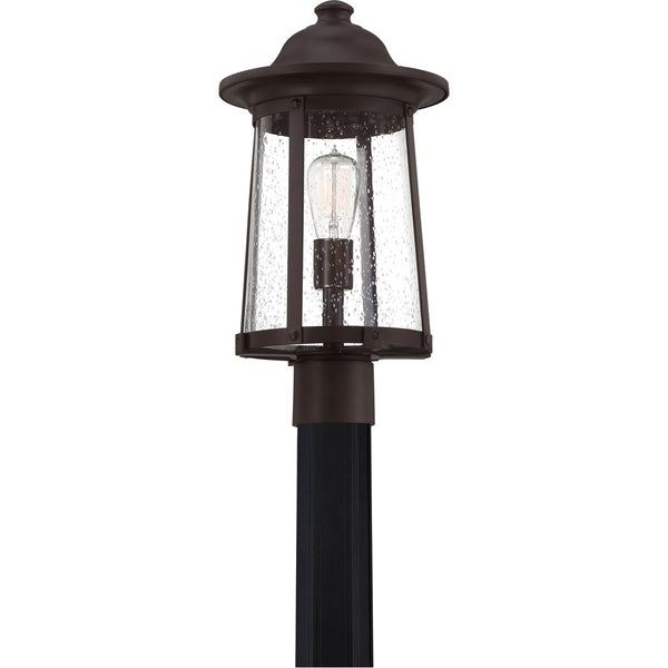 Quoizel Hogan 1 Light 18 inch Western Bronze Outdoor Post Light