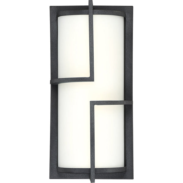 Quoizel Huger LED 14 inch Mottled Black Outdoor Wall Lantern