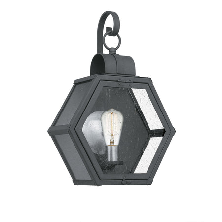 Quoizel District LED 5 inch Cinder Black Outdoor Wall Lantern