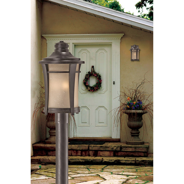 Quoizel HY8409IB Harmony 1 Light 14 inch Imperial Bronze Outdoor Wall Lantern in Standard Cream Linen Glass