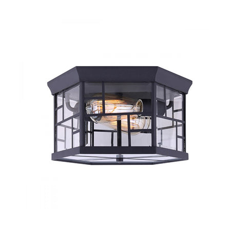Forte Lighting Signature 1 Light 10 inch Black Outdoor Lantern