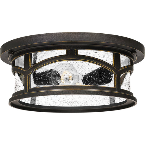 Quoizel Marblehead 2 Light 13 inch Palladian Bronze Outdoor Flush Mount