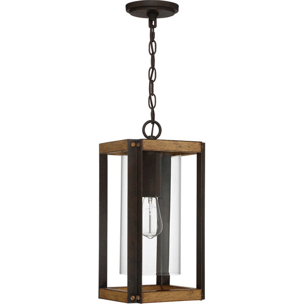 Quoizel Marion Square 1 Light 8 inch Rustic Black Outdoor Hanging Lantern