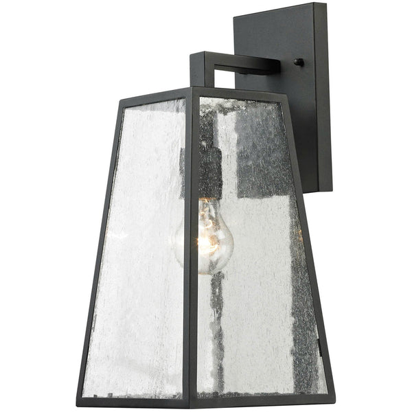 Elitco Lighting OD22 Series 1 Light 16 inch Matte Black Outdoor Wall Lamp