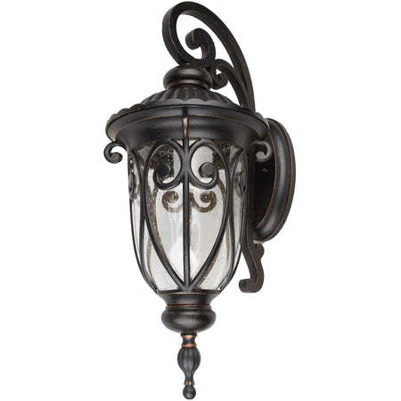 Hinkley Lighting 1639BZ Atlantis 3 Light 36 inch Bronze Outdoor Wall Mount in GU10 Etched Lens Glass