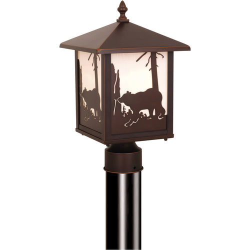 Vaxcel Bozeman 1 Light 14 inch Burnished Bronze Outdoor Post