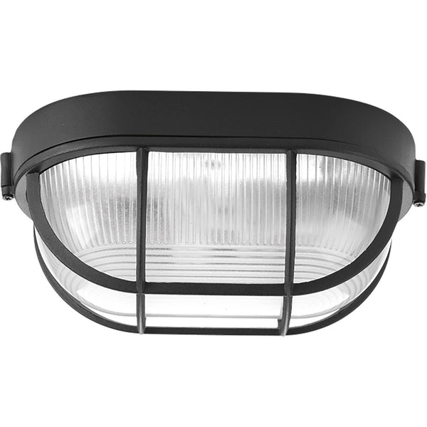 Progress Lighting Bulkheads 1 Light 6 inch Black Outdoor Ceiling Wall