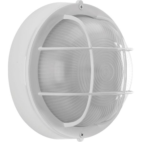 Progress Lighting Bulkheads 1 Light 8 inch White Outdoor Ceiling Wall