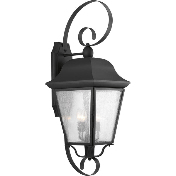 Progress Lighting Kiawah 3 Light 35 inch Black Outdoor Wall Lantern Extra Large Design Series