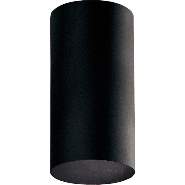 Progress Lighting Cylinder 1 Light 6 inch Black Outdoor Ceiling Mount