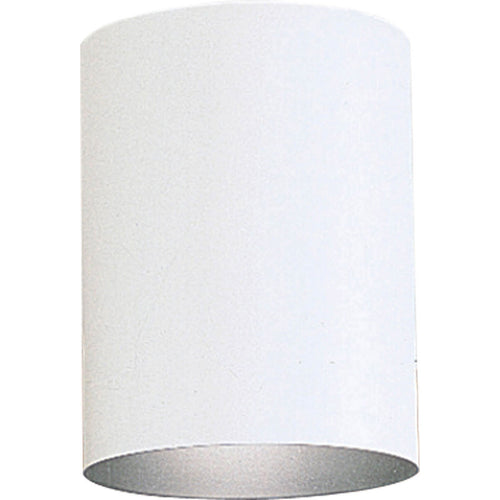 Progress Lighting Cylinder 1 Light 5 inch White Outdoor Ceiling Mount