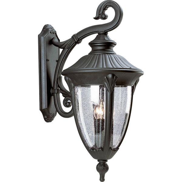 Progress Lighting P5824-31 Meridian 3 Light 27 inch Textured Black Outdoor Wall Lantern