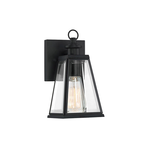 Quoizel Paxton 1 Light 9 inch Matte Black Outdoor Wall Lantern