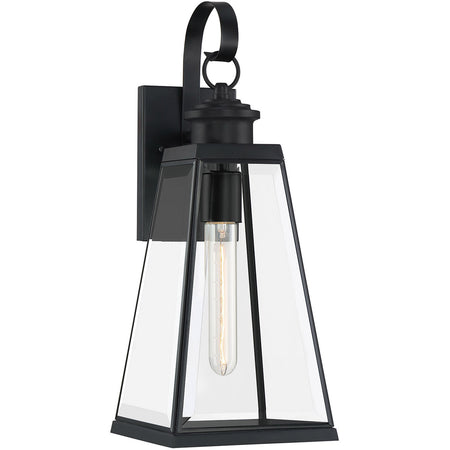Quoizel Darius 1 Light 12 inch Earth Black Outdoor Wall Light