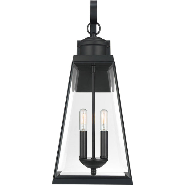 Quoizel Paxton 2 Light 22 inch Matte Black Outdoor Wall Lantern