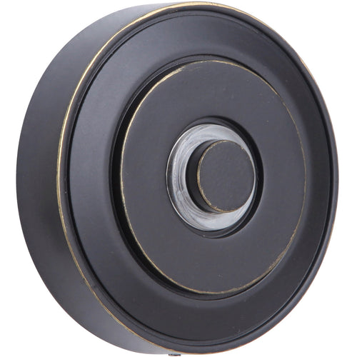 Craftmade PB5003-AZ Concealed Mounting Aged Bronze Textured Push Button Round