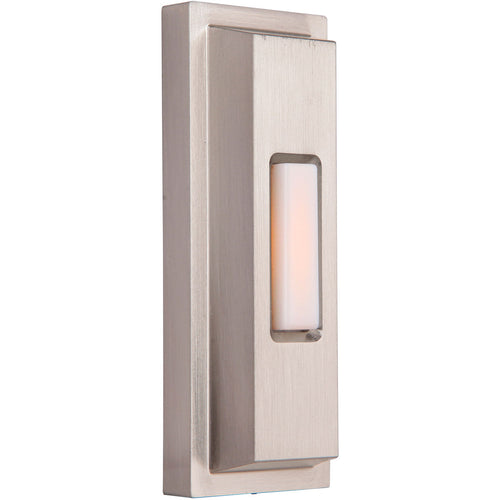 Craftmade PB5005-BNK Stepped Rectangle Brushed Polished Nickel Push Button