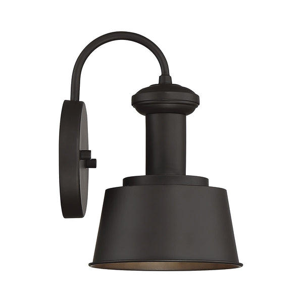 Light Visions Industrial 1 Light 10 inch Oil Rubbed Bronze Outdoor Sconce