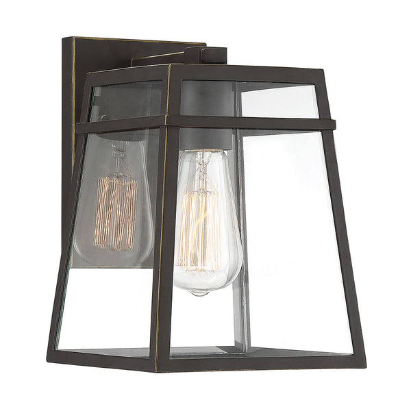 Light Visions Farmhouse 1 Light 7 inch Oil Rubbed Bronze/Gold Highlights Outdoor