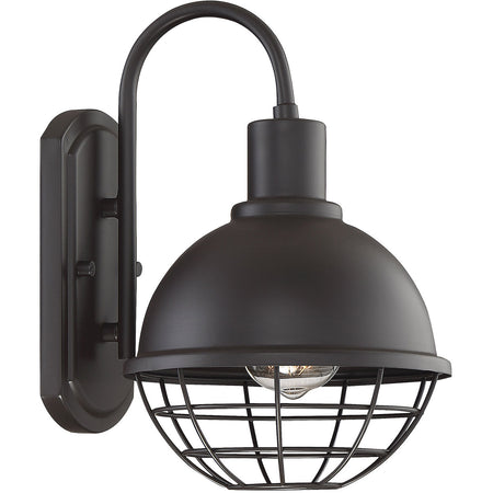 Light Visions Industrial 1 Light 10 inch Matte Black Outdoor