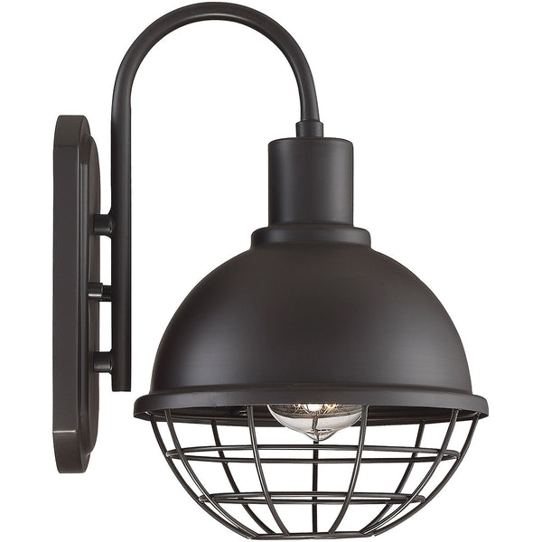 Light Visions Industrial 1 Light 12 inch Oil Rubbed Bronze Outdoor Sconce