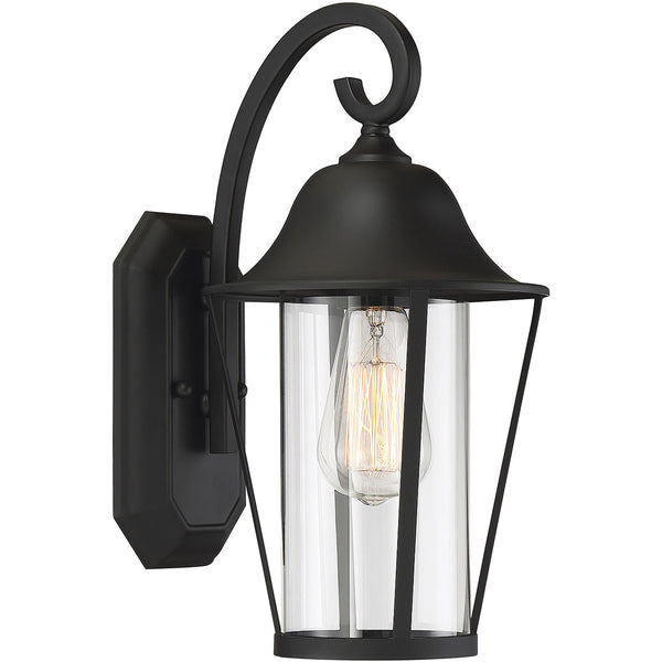 Light Visions Farmhouse 1 Light 14 inch Matte Black Outdoor Sconce